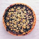 Beautiful Blueberry Pie Flower Crust