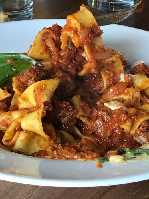 fettuccine pasta, Argentinian food, fusion food, tomatoes