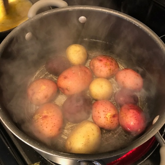 2 Boiling potatoes