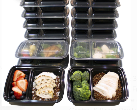 Tupperware stacked meal prep